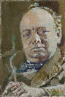 Winston Churchill, by Walter Sickert - NPG 4438