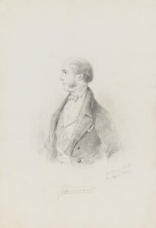 Ulick de Burgh, 1st Marquess of Clanricarde, by Alfred, Count D'Orsay - NPG 4026(14)