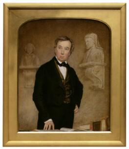 Charles Cowden Clarke, attributed to Thomas Heathfield Carrick, circa 1841-1854 - NPG 4506 - © National Portrait Gallery, London