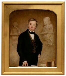 Charles Cowden Clarke, attributed to Thomas Heathfield Carrick, circa 1841-1854 - NPG 4506 - © National Portrait Gallery, London