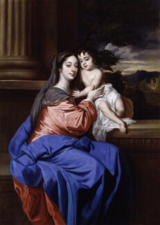 Barbara Palmer (née Villiers), Duchess of Cleveland with her son, probably Charles FitzRoy, as the Virgin and Child, after Sir Peter Lely - NPG 2564
