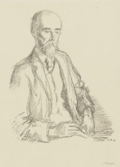 Sir Sidney Colvin, by William Rothenstein - NPG 3999