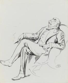 William Leonard Courtney, by Harry Furniss - NPG 3443