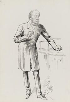 Gathorne Gathorne-Hardy, 1st Earl of Cranbrook, by Harry Furniss, 1880s-1900s - NPG 3353 - © National Portrait Gallery, London