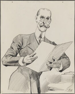 Robert Offley Ashburton Crewe-Milnes, 1st Marquess of Crewe, by Harry Furniss - NPG 3354