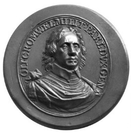 Oliver Cromwell, after a medal by Thomas Simon - NPG 1486