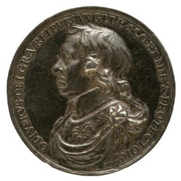 Oliver Cromwell ('The Lord Protector Medal'), by Thomas Simon, 1653 - NPG 4366 - © National Portrait Gallery, London