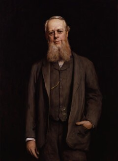 Richard Assheton Cross, 1st Viscount Cross, by Sir Hubert von Herkomer - NPG 2946