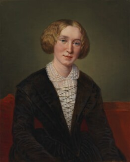 George Eliot, replica by François D'Albert Durade, 1850-1886, based on a work of 1850 - NPG  - © National Portrait Gallery, London