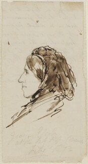 George Eliot, by Lowes Cato Dickinson - NPG 4961