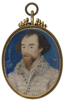 Unknown man, possibly George Clifford, 3rd Earl of Cumberland, by Nicholas Hilliard - NPG 6273