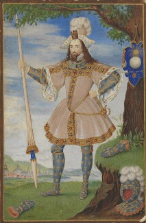 George Clifford, 3rd Earl of Cumberland, by George Perfect Harding, after  Nicholas Hilliard, early 19th century, based on a work of circa 1590 - NPG  - © National Portrait Gallery, London