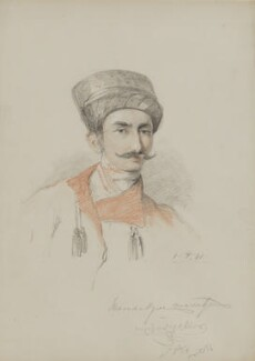 Manockjee Cursetjee, by William Brockedon - NPG 2515(92)