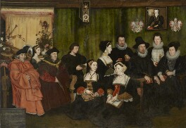 Sir Thomas More, his father, his household and his descendants, by Rowland Lockey, after  Hans Holbein the Younger, 1593 - NPG  - © National Portrait Gallery, London
