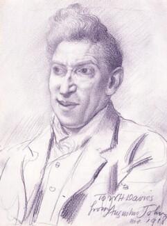 William Henry Davies, by Augustus John - NPG 3149