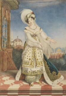 Claudine de Begnis (née Ronzi), by Alfred Edward Chalon, circa 1823 - NPG 1328 - © National Portrait Gallery, London
