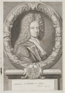 Daniel Defoe, by Michael Vandergucht, after  Jeremiah Taverner - NPG 3960