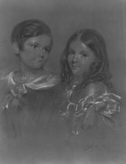 Edward Denison; Louisa Evelyn Denison, by John Hayter - NPG 4480