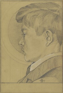 Edward Julius Detmold, by Charles Maurice Detmold, 1899 -NPG 3037 - © National Portrait Gallery, London