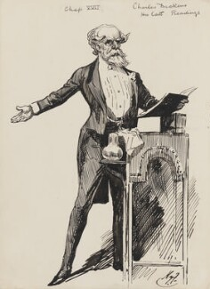 Charles Dickens, by Harry Furniss - NPG 3445