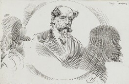 Charles Dickens, by Harry Furniss, 1880s-1900s - NPG 3563 - © National Portrait Gallery, London