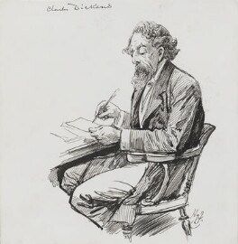 Charles Dickens, by Harry Furniss, 1880s-1900s - NPG 3565 - © National Portrait Gallery, London