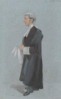 Sir Henry Fielding Dickens, by Sir Leslie Ward - NPG 3285