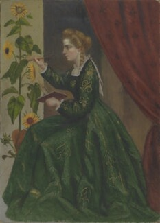 Emilia Francis (née Strong), Lady Dilke, by Pauline, Lady Trevelyan (née Jermyn); Laura Capel Lofft (later Lady Trevelyan), circa 1864 -NPG 1828a - © National Portrait Gallery, London