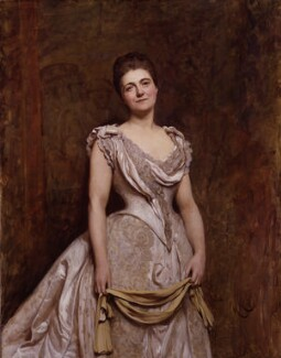 Emilia Francis (née Strong), Lady Dilke, by Sir Hubert von Herkomer, 1887 - NPG  - © National Portrait Gallery, London