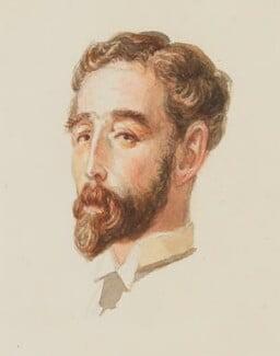 Harold Lee-Dillon, 17th Viscount Dillon, by Sir George Scharf - NPG 4834