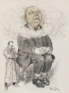 Arthur Conan Doyle, by Sir (John) Bernard Partridge, published in Punch 12 May 1926 - NPG 3668 - Reproduced with permission of Punch Ltd