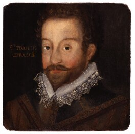 Sir Francis Drake, after an engraving attributed to Jodocus Hondius, circa 1583 - NPG 1627 - © National Portrait Gallery, London