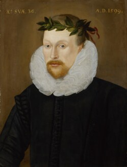 Michael Drayton, by Unknown artist, 1599 - NPG  - © National Portrait Gallery, London