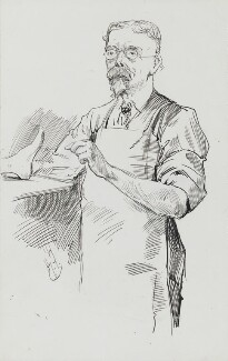 George Du Maurier, by Harry Furniss - NPG 3568