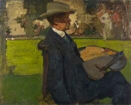 Sir Alfred Edward East, by Sir Frank Brangwyn, circa 1900 -NPG 4826 - © E.H. Glaisyer / National Portrait Gallery, London