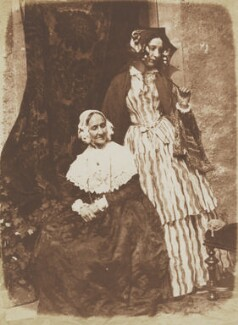 Anne Rigby (née Palgrave); Elizabeth, Lady Eastlake (née Rigby), by David Octavius Hill, and  Robert Adamson - NPG P6(134)