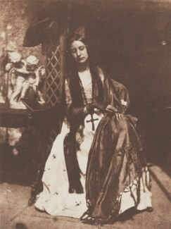 Elizabeth (née Rigby), Lady Eastlake, by David Octavius Hill, and  Robert Adamson - NPG P6(136)
