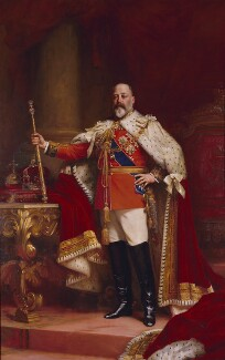King Edward VII, replica by Sir (Samuel) Luke Fildes, 1902-1912, based on a work of 1902 - NPG 1691 - © National Portrait Gallery, London