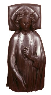 Eleanor of Castile, by Elkington & Co, cast by  Domenico Brucciani, after  William Torel - NPG 345