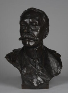 Sir Edward Elgar, Bt, by Percival Hedley - NPG 2219