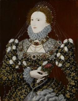 Queen Elizabeth I, associated with Nicholas Hilliard, circa 1575 - NPG  - © National Portrait Gallery, London
