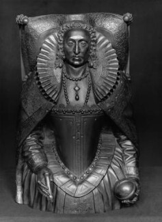 Queen Elizabeth I, by Elkington & Co, cast by  Domenico Brucciani, after  Maximilian Colte - NPG 357