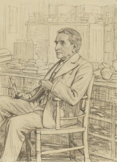 Sir Arthur John Evans, by Francis Dodd - NPG 3540