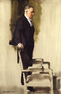 (Francis) Raymond Evershed, 1st Baron Evershed, by Norman Hepple - NPG 4678