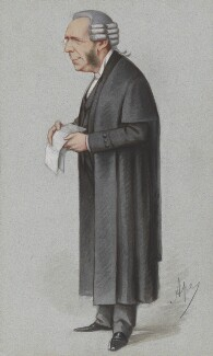 Thomas Erskine May, 1st Baron Farnborough, by Carlo Pellegrini - NPG 2712