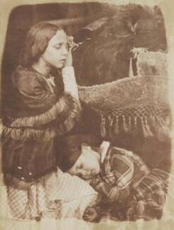 Sophia Finlay; Harriet Farnie, by David Octavius Hill, and  Robert Adamson - NPG P6(161)