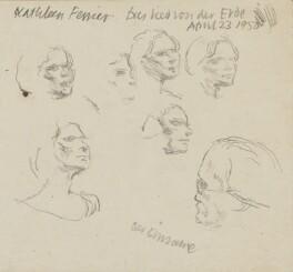 Kathleen Ferrier and an unknown sitter, by Bernard Dunstan - NPG 5040(5)