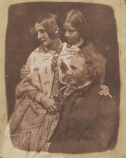 James Fillans with his two daughters, by David Octavius Hill, and  Robert Adamson - NPG P6(120)