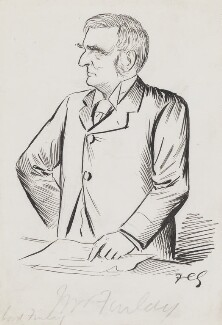 Robert Bannatyne Finlay, 1st Viscount Finlay, by Sir Francis Carruthers Gould ('F.C.G.') - NPG 2836