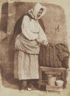 Mrs Barbara Flucker (née Johnstone), the oysterwoman, by David Octavius Hill, and  Robert Adamson - NPG P6(196)